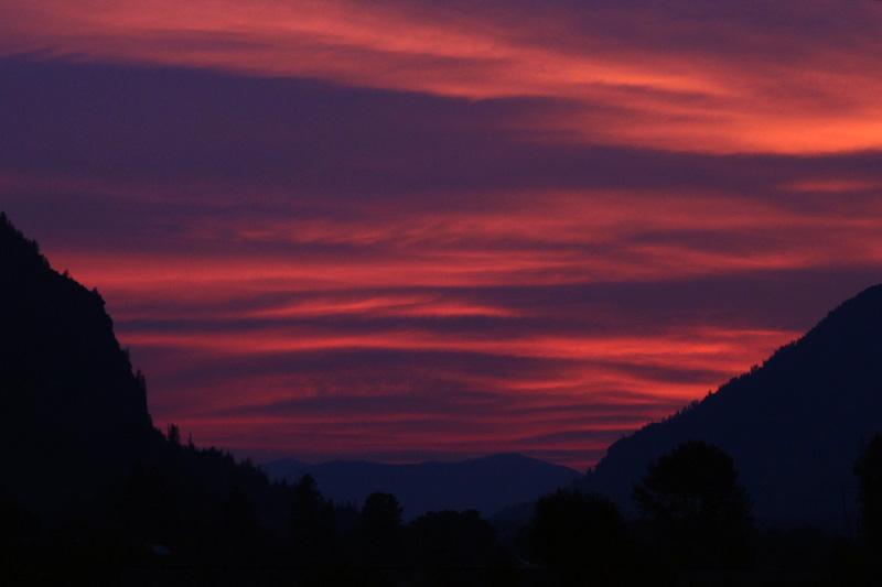 western montana sunset west of plains